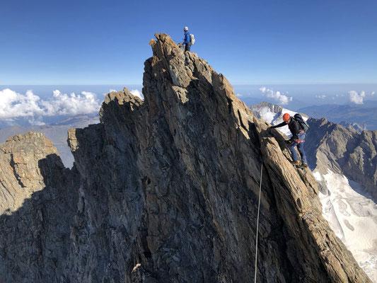Prächtige Kletterei.