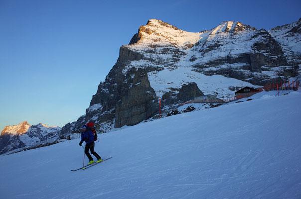Skiabfahrt vom Eigergletscher