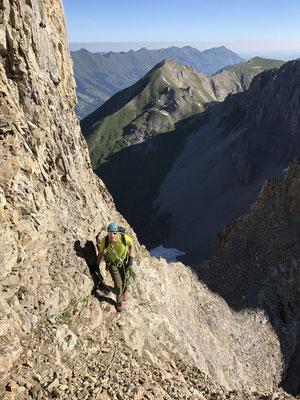 Im Hintergrund der Bunderspitz, der erste Gipfel des Tages.