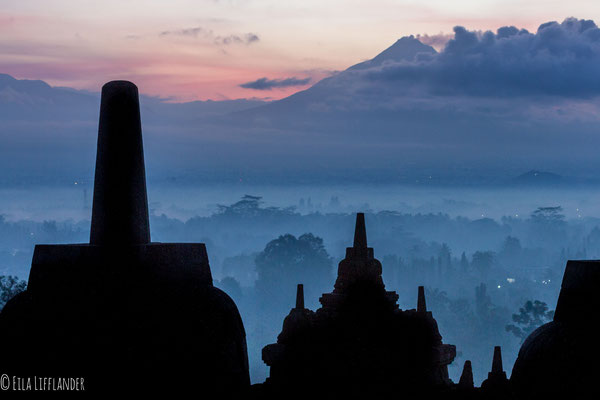 Borobudur Temple and Mount Bromo