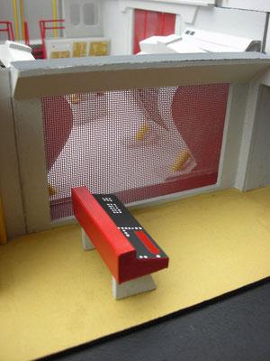 Ein Kontrollraum im Maschinenraum. Er wurde selten gezeigt