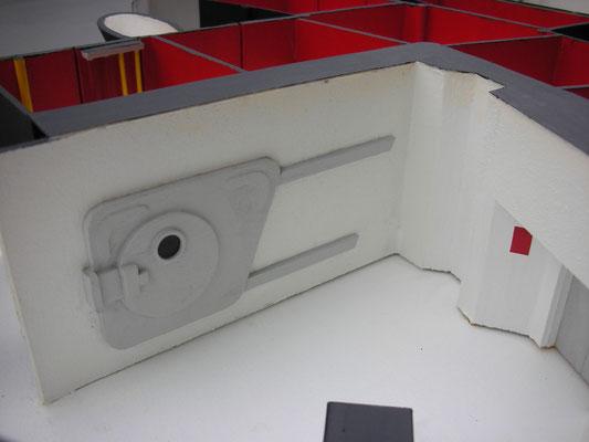 Die öfters verwendete, berühmte Unterdruckkammer befindet sich im Labor.