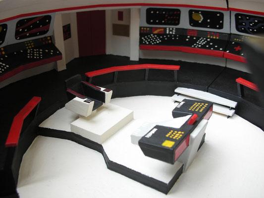 Die Haupt-Brücke, die Kommandozentrale des Schiffes.