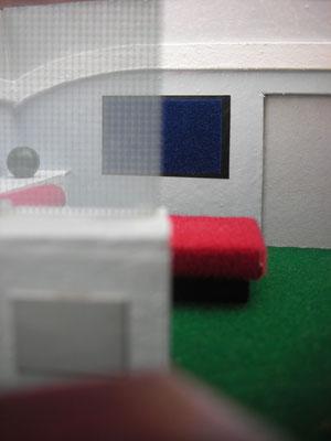 Der zweite Raum des Quartiers. Zu sehen Kirks Safe.