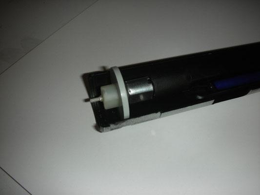 Micro-E-Motor inkl. Getriebe für die Bussard Collectors im Triebwerk