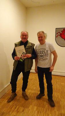 1. Platz: Jürgen Prager im Namen von Waltraut Prager