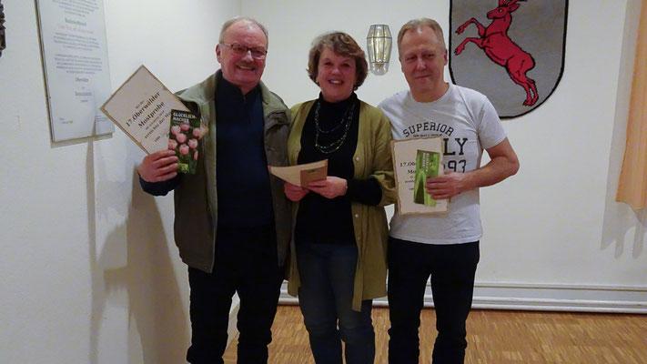Jürgen Prager (für Waltraut Prager), Christel Mühlhäuser (für Walter Wagner), Manfred Bühler