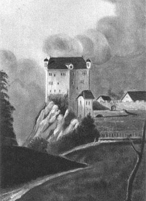 Das Schloss Gräpplang nach einer Votivtafel von 1695