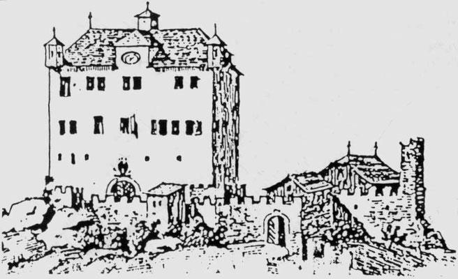 Die Burg oder das Schloss Gräpplang 1740 bis 1780 (Nach S. Schlatter)