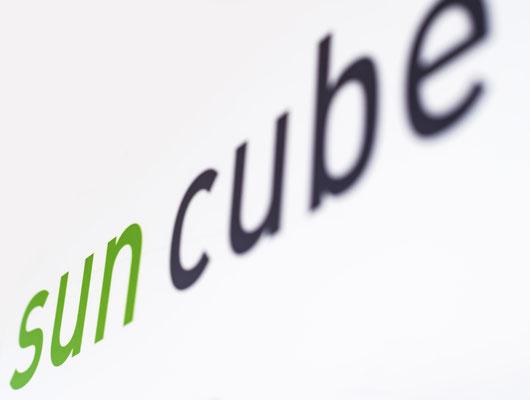 sun cube schriftzug