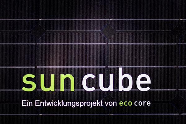 detail solarpanel mit schriftzug ecocore