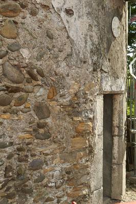 détail du mur extérieur