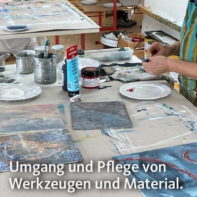 Umgang und Pflege von Werkzeugen und Material