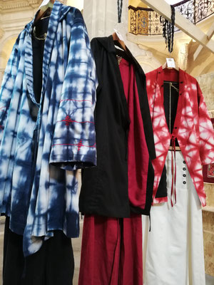 kimonos de Hiatus avec mes broderies