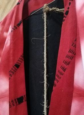 Détails de ma broderie à l'aiguille sur un kimono de Hiatus