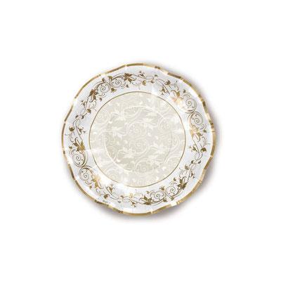 Piatto Diam. 24 cm fondo 10 pz. prestige oro € 4,50