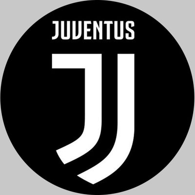 Cialda nuovo logo juventus  fondo nero diam. 20 cm ostia € 8,00 oppure in pasta di zucchero € 10,00