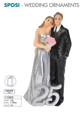 Cake topper 25° anniversario H.19 cm
