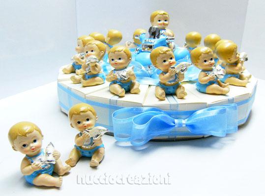 torta bomboniera baby azzurro
