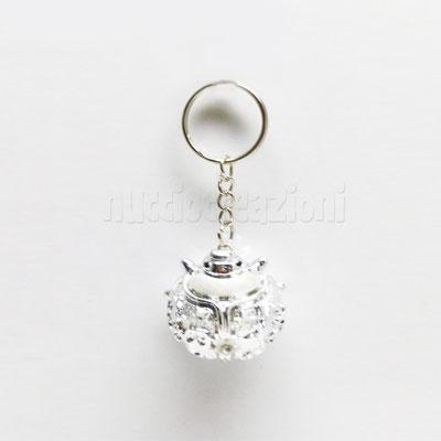 porta chiavi coccinella argentata dm. 4 cm € 2,50