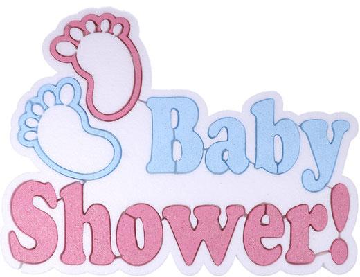 BABY SHOWER SCRITTA  38 X 30 CM SPESSORE 5 CM IN POLISTIROLO € 13,50