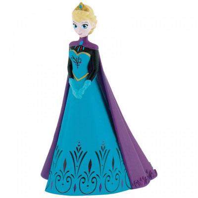 Elsa in pvc BULLYAND Disney H.10 L. 8 cm decorazione per torta
