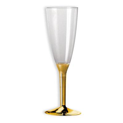 Flute Crystal e gambo oro metal  confezione da 10 / 20 pz