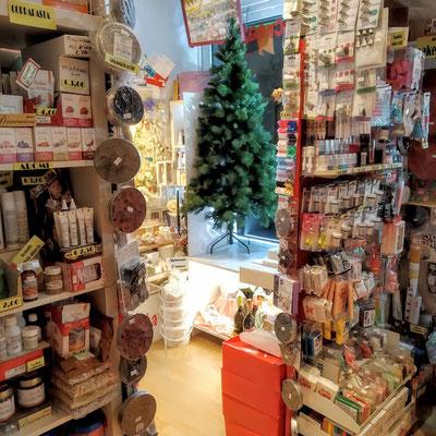 albero di Natale in negozio