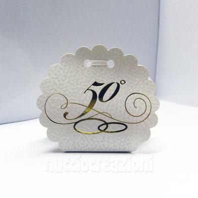 scatola nuvola 50 anni ideale per il fai da te, senza confetti € 0,60