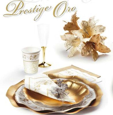 piatti prestige oro con disegni eleganti diverse misure