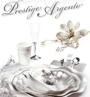 piatti prestige argento con disegni eleganti diverse misure