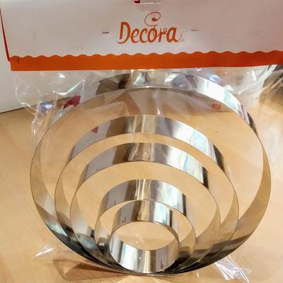 6 anelli coppapasta acciaio inox € 53,50