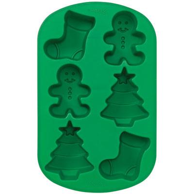 stampo in silicone  elementi natalizi