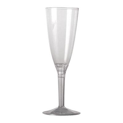 Flute Crystal e gambo trasparente confezione da 10 / 20 pz