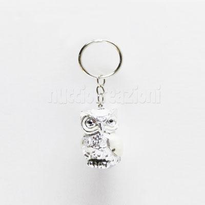 porta chiavi gufetto argentato H. 4 cm € 2,50