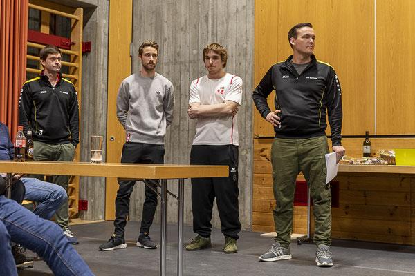 Das OK des diesjährigen Preisjassens: Aurelio Valaulta, Mirco Dermond, Luca Montalta, Jan Tomaschett