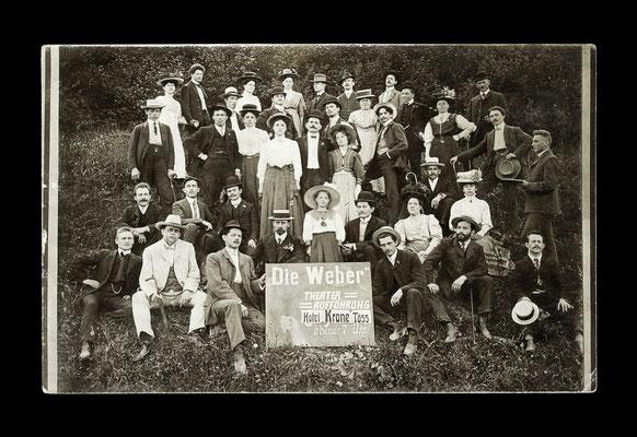 Fotografie vor 1909,    vermutlich Tössemer Laientheater beim Hotel Krone