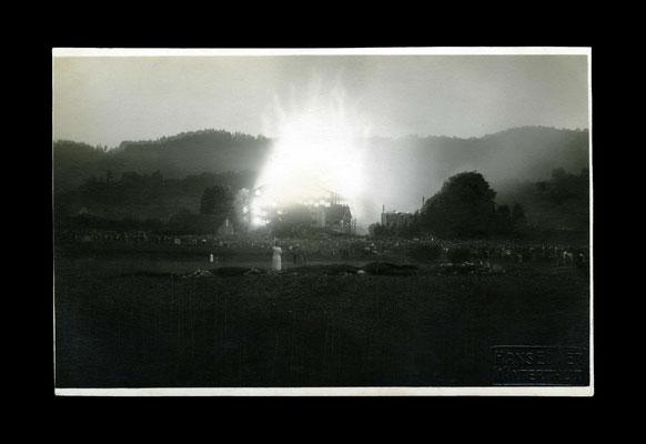 Fotografie 18. Juni 1924,    Brand der Neumühle Töss