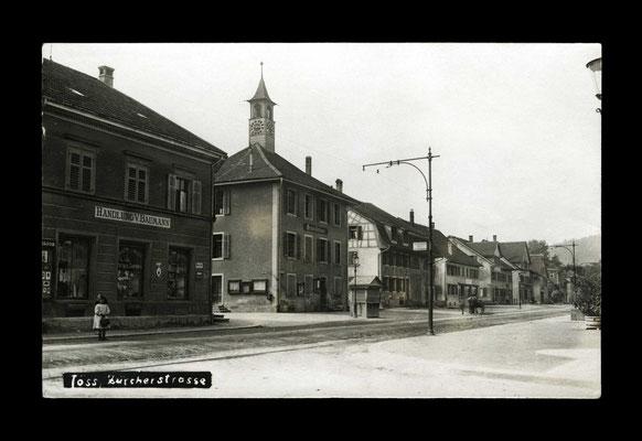 Fotografie vor 1921,   Zürcherstrasse mit Gemeindehüsli