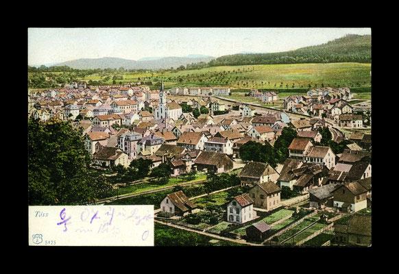 Lichtdruck koloriert vor 1906,     Töss vom Ebnet