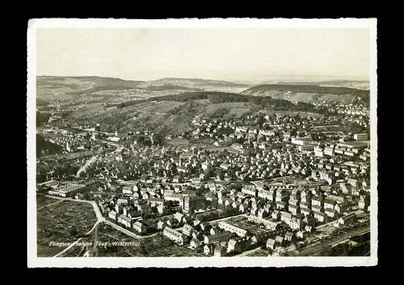 Flugaufnahme vor 1940,    Töss von Südosten