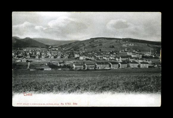 Lichtdruck vor 1911,     Eichliacker und Töss vom Vogelsang