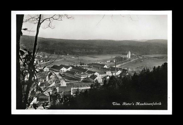 Fotografie ca. 1930,     Rieter und Neumühle vom Ebnet