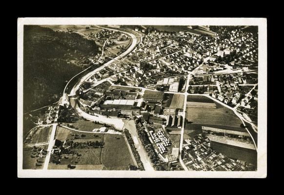 Flugaufnahme vor 1926,     Töss von Süden
