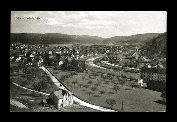 Lichtdruck vor 1919,     Töss und Nägelsee vom Brüelberg