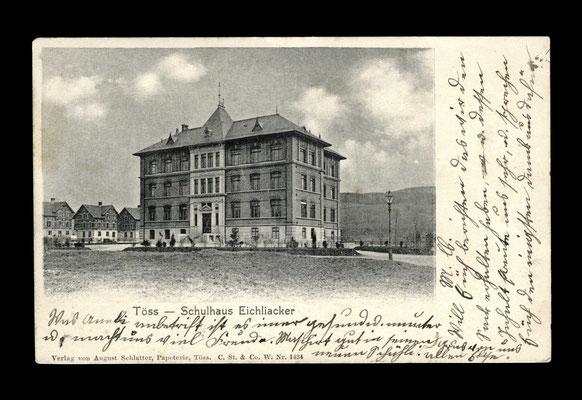 Lichtdruck vor 1903,     Schulhaus Eichliacker