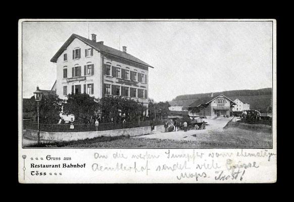 Fotografie vor 1903,     Restaurant Bahnhof Töss