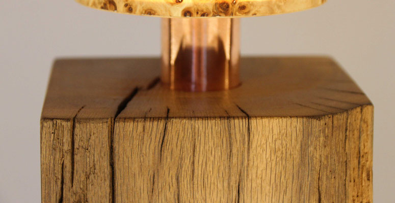 Upcycling Stehlampe Lignum