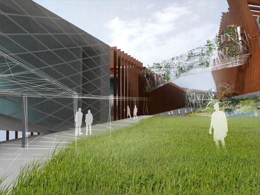 Proposition artistique  Université de Nouméa en Nouvelle-Calédonie