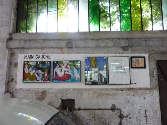 """Exposition Jo Brouillon, galerie """"Main Gauche"""", ©Jean de Giacinto"""